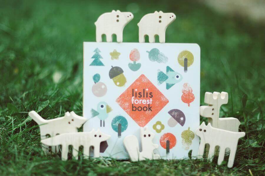 Комплект балансир Лісові звірі та книжка lislis forest book