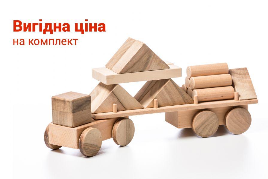 Комплект Лісовоз Великий та Конструктор Малий
